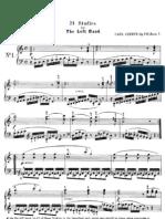 Op 718 - 24 Studi Per La Mano Sinistra (Estudios Para Mano Izquierda