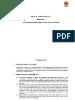 Selection Guidelines for Petrol Diesel Retail 6 Sep 11