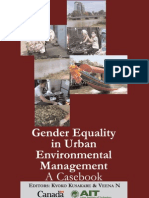Gender Equality in Urban Environmental Management