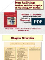 Chapter 16 – Auditing the Production and Personnel Services Cycles