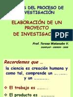 Etapas y Proyecto de Investigación