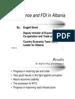 Governance and FDI in Albania