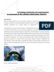 Health and safety training standards and requirements for personnel in the offshore wind power industry