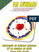 Programa de Culto Reforma Luterana Praça João Correa 2007