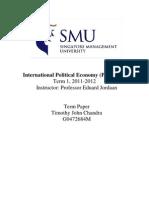 Failed Sanctions on BURMA - IPE Essay