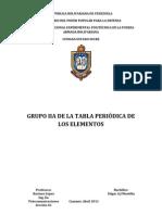 UNEFA Quimica Grupo Iia Alcalinoterros