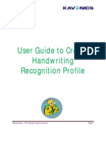 How to Create Recognition Profile