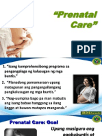 Mother's Class on Prenatal Care Mix English and Tagalog