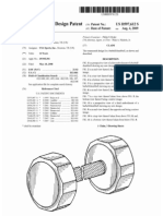 Barbell/dumbbell (US patent D597612)