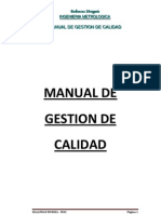 Manual de Gestion de Calidad Murguia