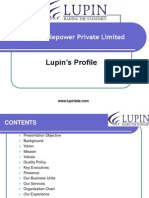 LUPIN TELEPOWER Corporate Profile New 06-10-10