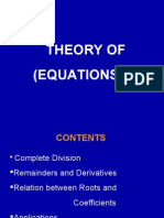 Theory of Equations 2