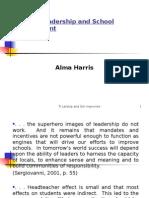 Part 1 (Harris) Effective Leadership in Education C.S.M. - M