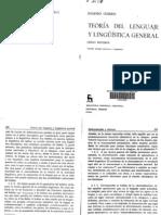 Eugenio Coseriu - Teoría del lenguaje y lingüística general