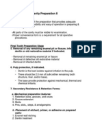 Lecture 4, Principles of Cavity Preparation (2) - Outline-Handout