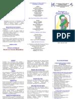 Triptico Doctorado en Ciencias Biomédicas 2011