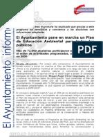 M AMBIENTE Plan de Educación Ambiental