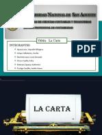 II 01 LA CARTA