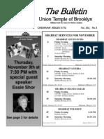 UT Bulletin November 2011