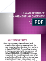 Human Resource Management-An Overview