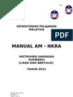Manual Am Numerasi MAN S3 2011