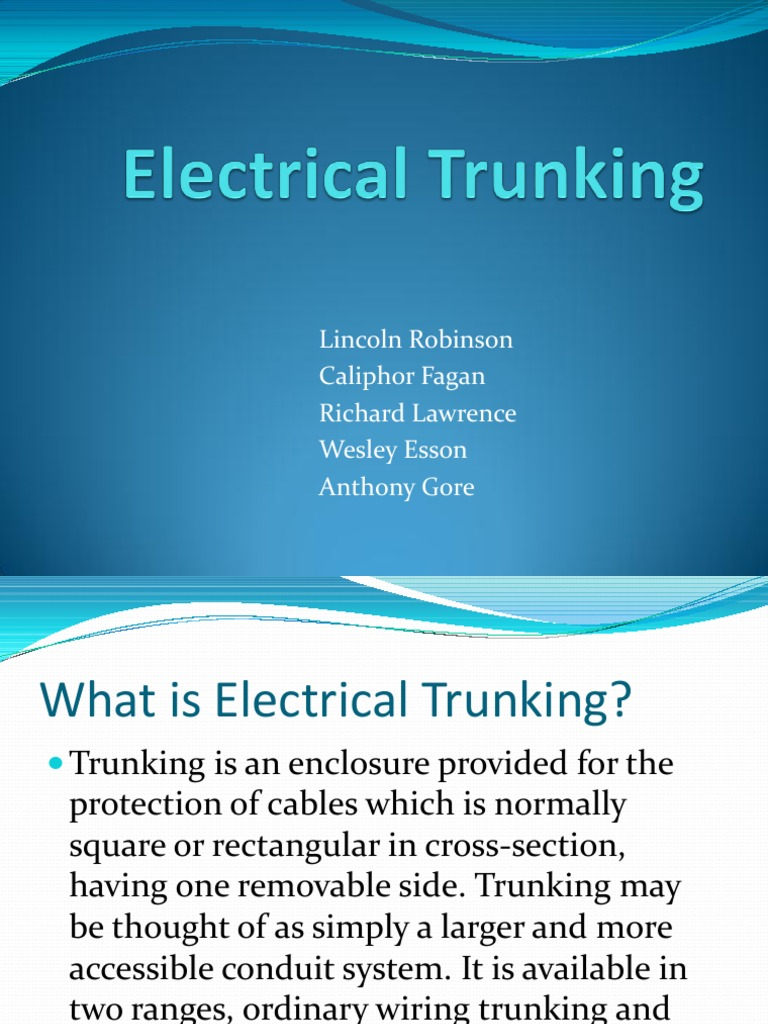 Electrical Trunking Cable Drilling