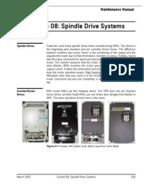 0080 8 Spindle Drive and Motor | Resistor | Belt (Mechanical)