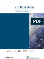 The Myth of Bank Ability - Definition and Management in the Context of PV Project Financing in Germany