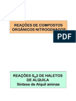 Reaçoes de Compostos Nitrogenados - P2