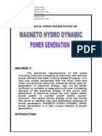 Magneto Hydro Dynamic Power Generation