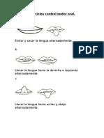 Ejercicios Control Motor Oral