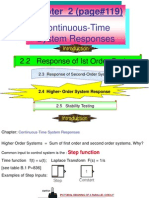 Chapter 2.2 Response Ist Order Systems