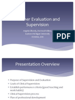 Teacher Evaluation and Supervision