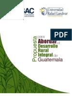 Propuesta Para Abordar El Desarrollo Rural Integral de Guatemala