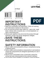 Leviton 476tm-624 Instruction Manual
