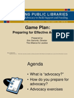 Game Plan- Preparing for Effective Advocacy
