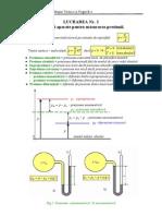 Metode şi aparate pentru măsurarea presiunii