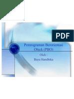 Tugas - Pemrograman Berorientasi Objek (PBO)