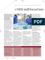 Frontline NHS staff forced into cuts ahead of key vote