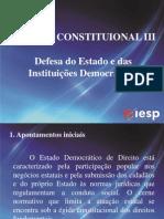 Apresentação - Estado de Defesa - Direito Constitucional III -Iesp P1