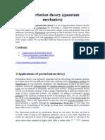 Perturbation Theory
