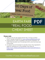 Earth Fare Real Food Cheat Sheet