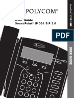 Sound Point IP301 UserGuide SIP3 0 Eng Rev D