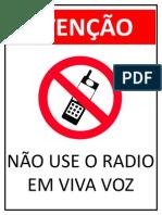 Proibido o Uso de Radio