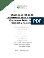 Cuál es el rol de la Universidad en la Sociedad Contemporánea