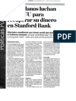 """""""Venezolanos luchan en EEUU para recuperar su dinero en Stanford Bank"""""""