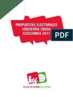 Programa IU Elecciones Generales 20N-2011