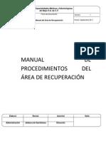 MANUAL DE PROCEDIMIENTOS DEL ÁREA DE RECUPERACIÓN
