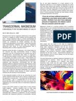 Trans Dermal Magnesium