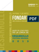 Bases Forndart Regional Desarrollo Cultural Regional